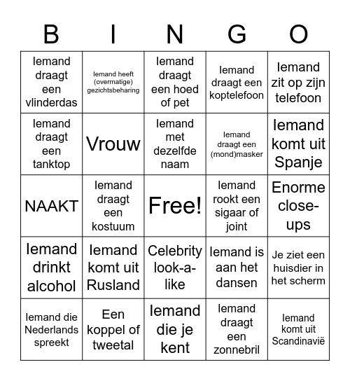 Vivendi Chatroulette Bingo Card