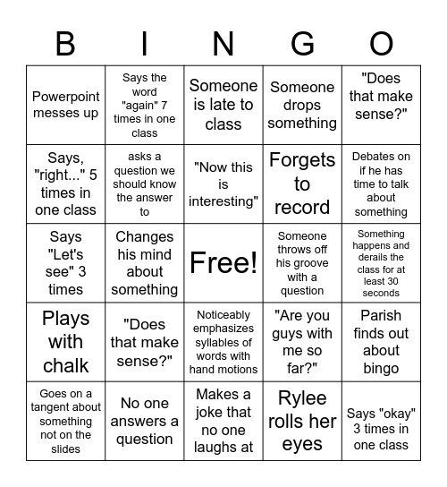 West Civ 2 Bingo Card