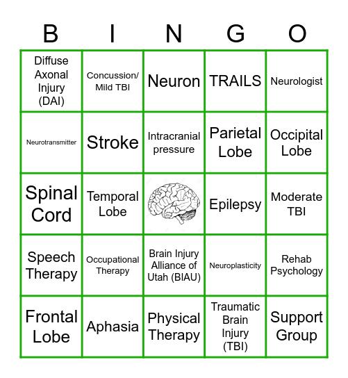 BRAIN INJURY AWARENESS Bingo Card