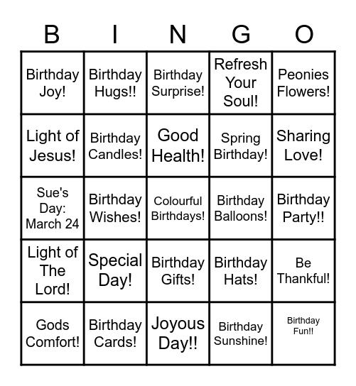 BIRTHDAY PARTY Bingo Card
