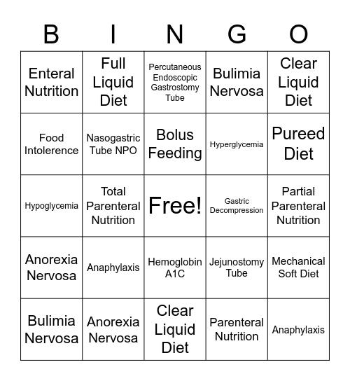 NF Ch 24 Bingo Card