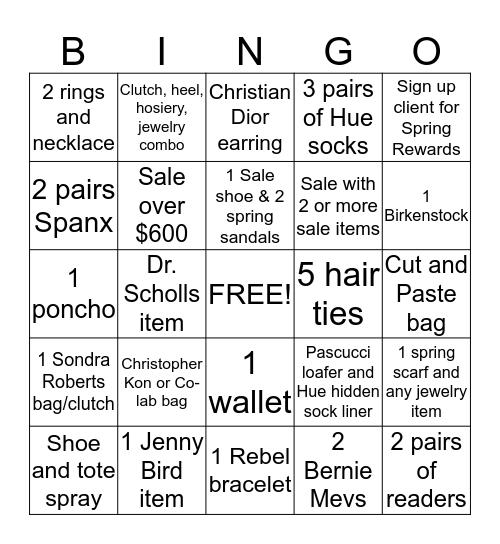 Lori's Bingo Card