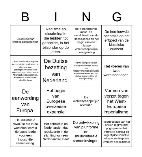 KA BINGO c Bingo Card