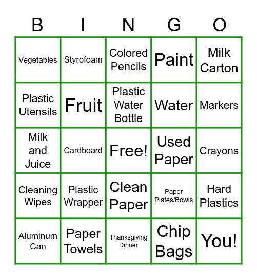 BIN BINGO Card