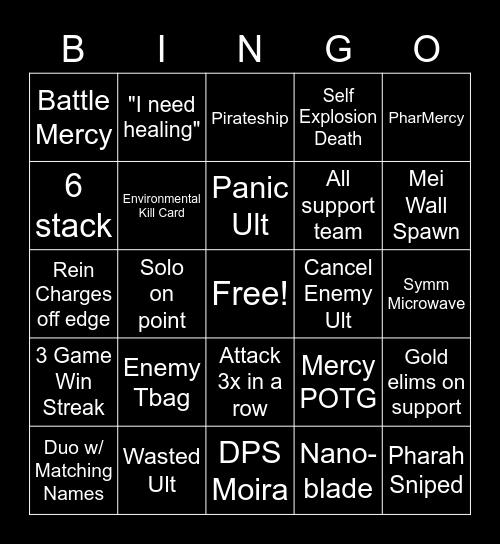 Overwatch Bingo Card