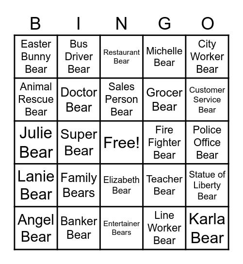 SUPER BEAR BINGO Card