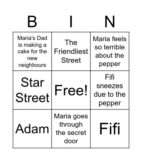 The War with the Next Door Bingo Card