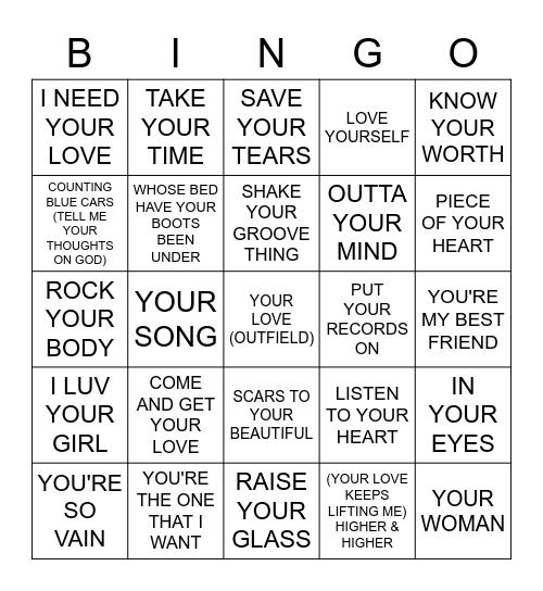 YOUR / YOU'RE Bingo Card