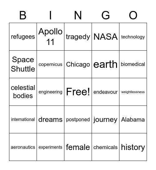 Lesson 16 Bingo Card