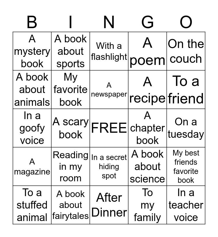Books for Bingo Card