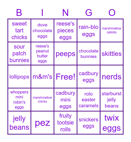BUNNY Bingo Card