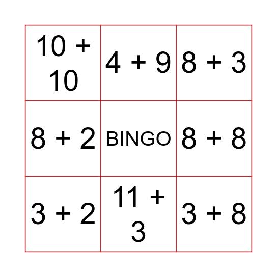 ADIÇÃO Bingo Card