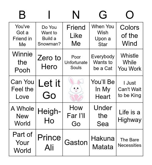 Bunny Bingo-Music Edition Bingo Card