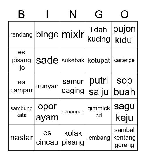 bingo punya lela Bingo Card