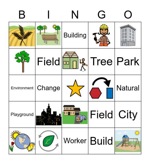 April Vocabulary Bingo Card