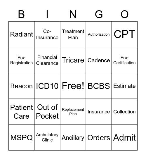 RSC PASC BINGO Card
