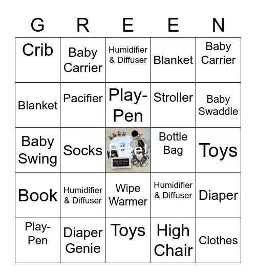 Baby Green Bingo Card