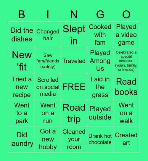 ~*Back from Spring Break BINGO!*~ Bingo Card