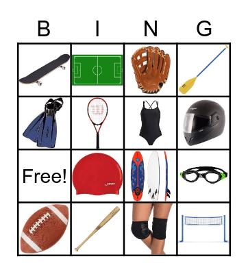 Equipment sport Bingo Card