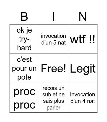 Delzor Bingo  REAL Bingo Card
