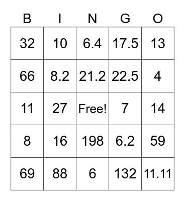 Bingo Wheel of Jeopardy Bingo Card