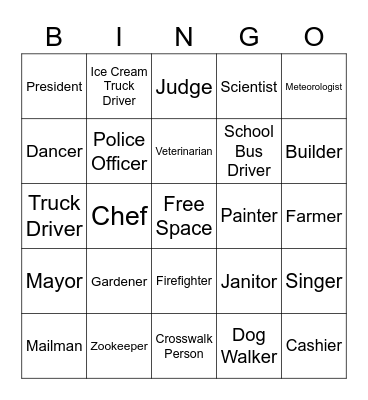 Producers Bingo Card