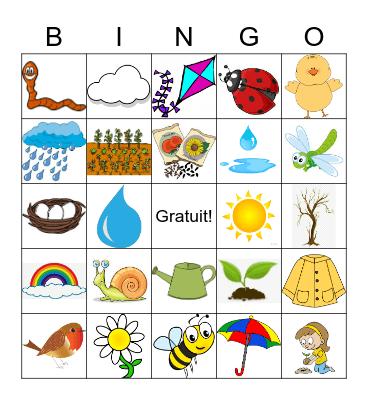 Le Printemps Bingo Card