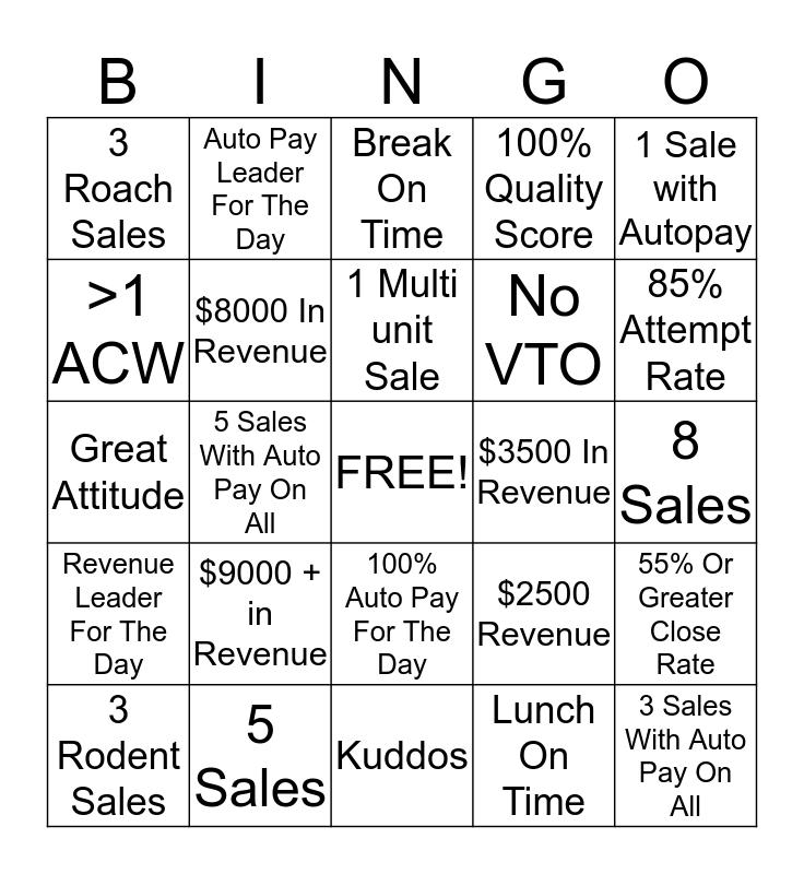 Team Ray Bingo Card