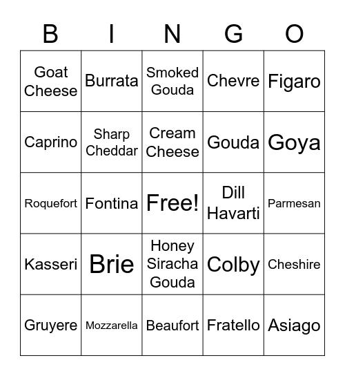 NoVA TDP Cheese Bingo Card