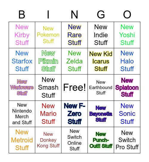 E3 Predictions (Mostly Nintendo) Bingo Card