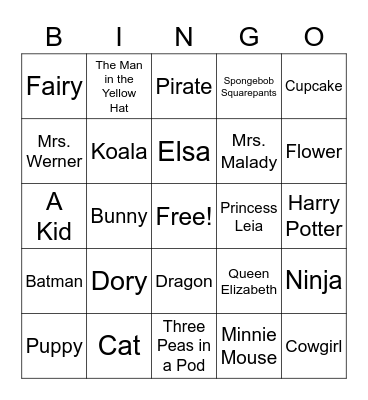 Guess Gillespie's Get-Up! Bingo Card