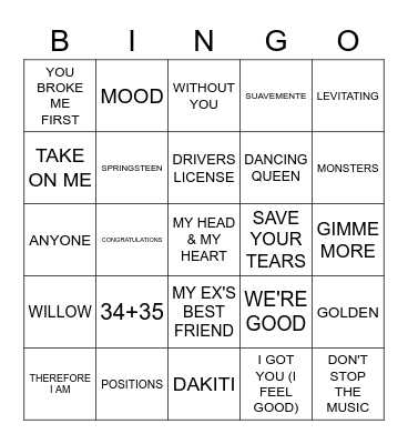 WELCOME BACK BINGO Card