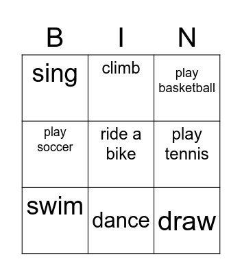FOOD2 Bingo Card