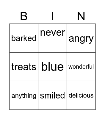 Danny Digs In! Bingo Card