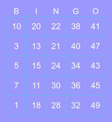 b i n g o with kak JungJae Bingo Card
