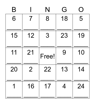 Parts of Speech BINGO! Bingo Card