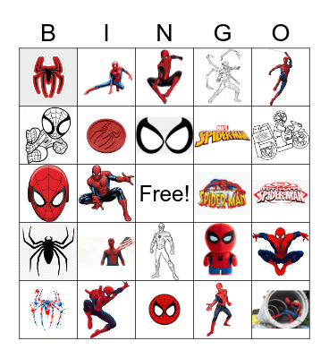 Spiderman Bingo Card