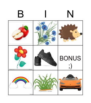 Farben und Spielsachen Bingo Card