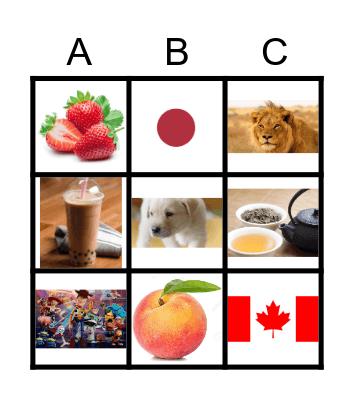 My favorite __ is __. Bingo Card