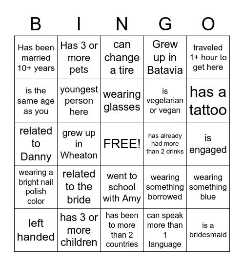 Find The Quest Bingo Card
