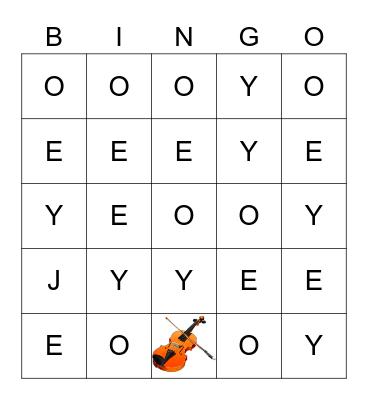 JOOOOEEEYYYYYYY Bingo Card