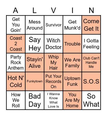 Alvin and the Chipmunks Bingo Card