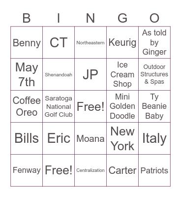 Cecily Wedding Shower Bingo! Bingo Card
