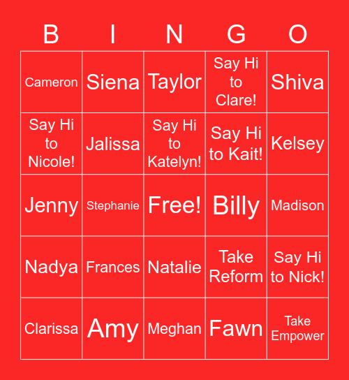 PBSEA Bingo Card