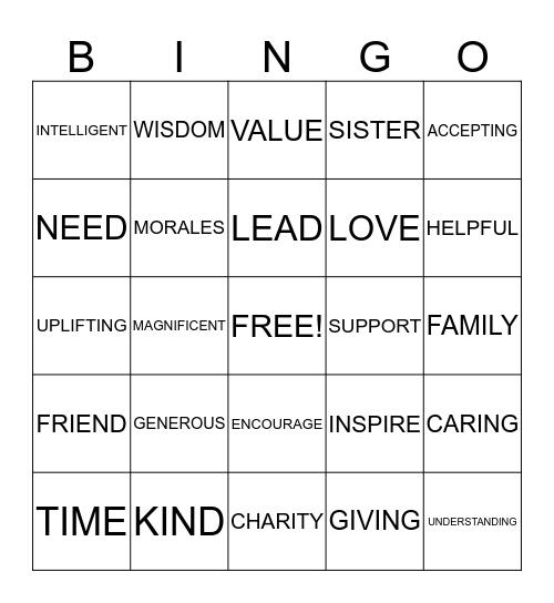 Sophisticated Women of Outreach Bingo Card