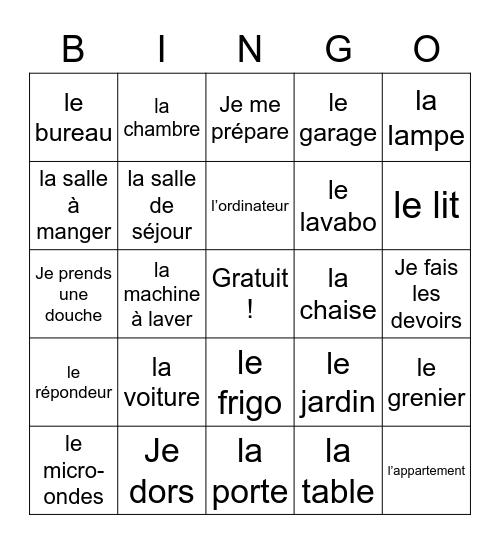 LOTTA : La maison Bingo Card