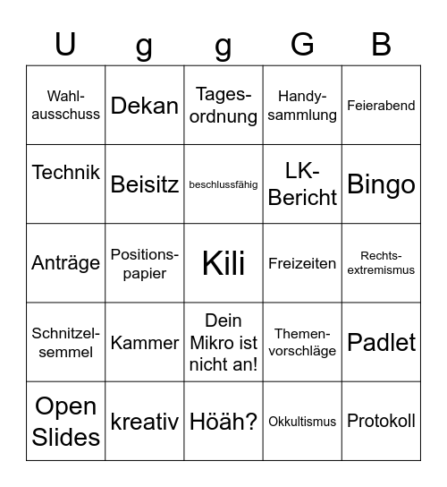 Ultimativ gigantisches geiles Geschäftsteil Bingo Card