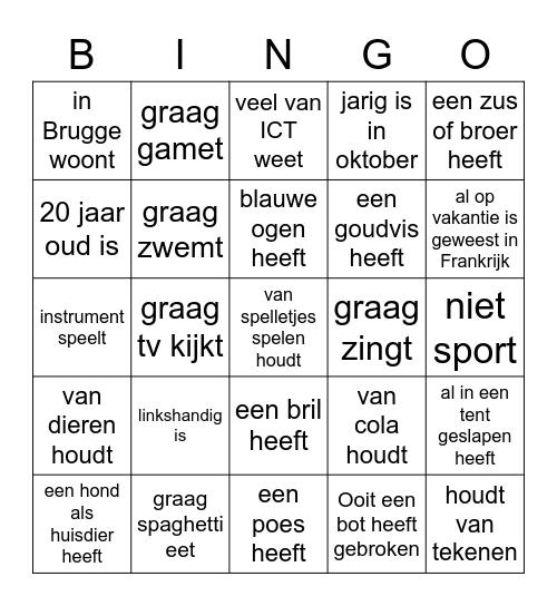 Kennismakingsbingo: Zoek iemand die... Bingo Card