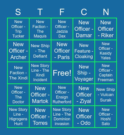 STFC Next Arc Bingo! Bingo Card