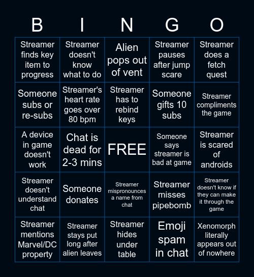 eratheBINGO: Alien Isolation Bingo Card